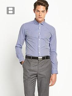 taylor-reece-mens-micro-gingham-check-shirt-navy