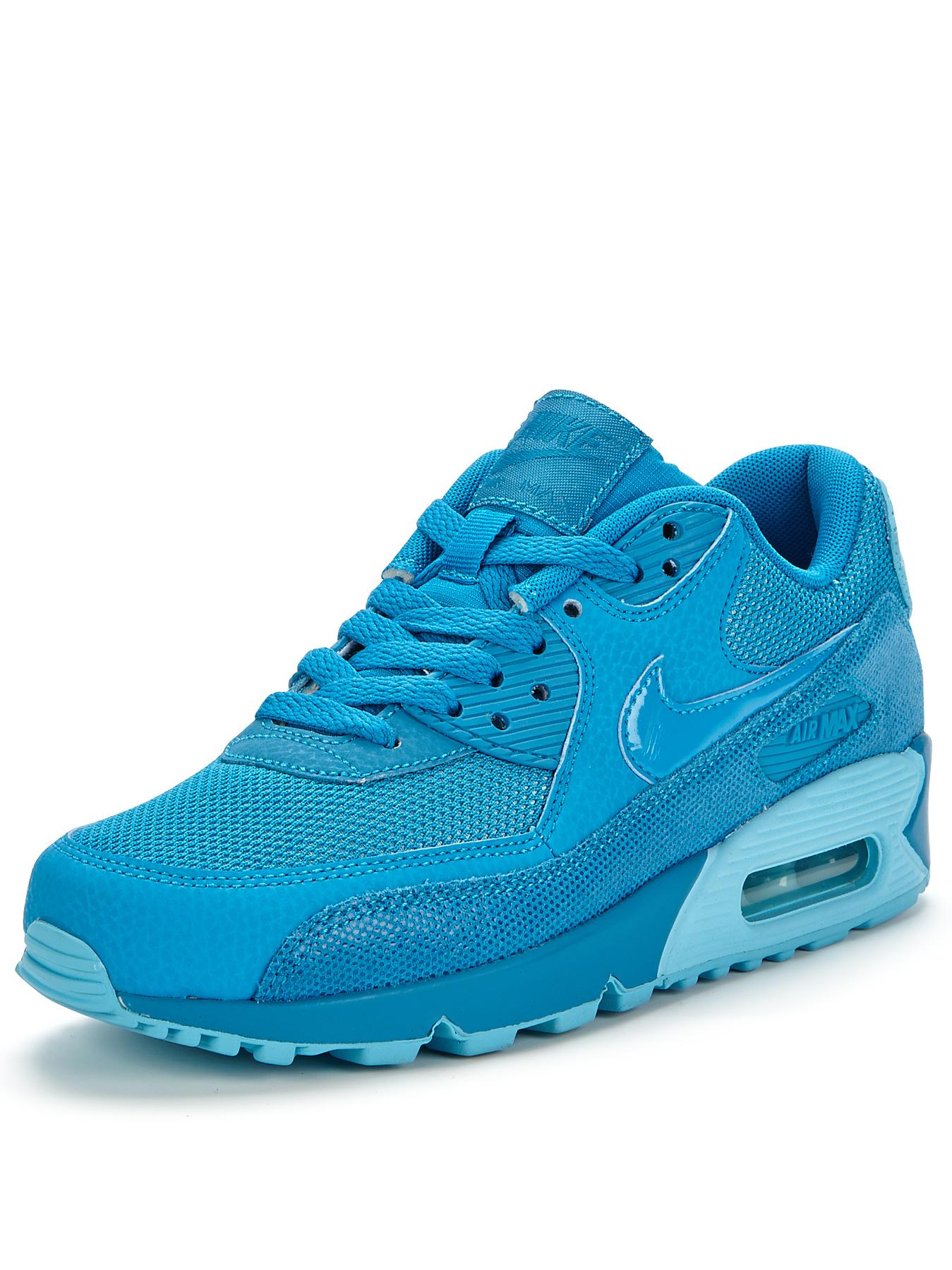 Nike Air Max 90 Premium Trainers - Blue, Blue