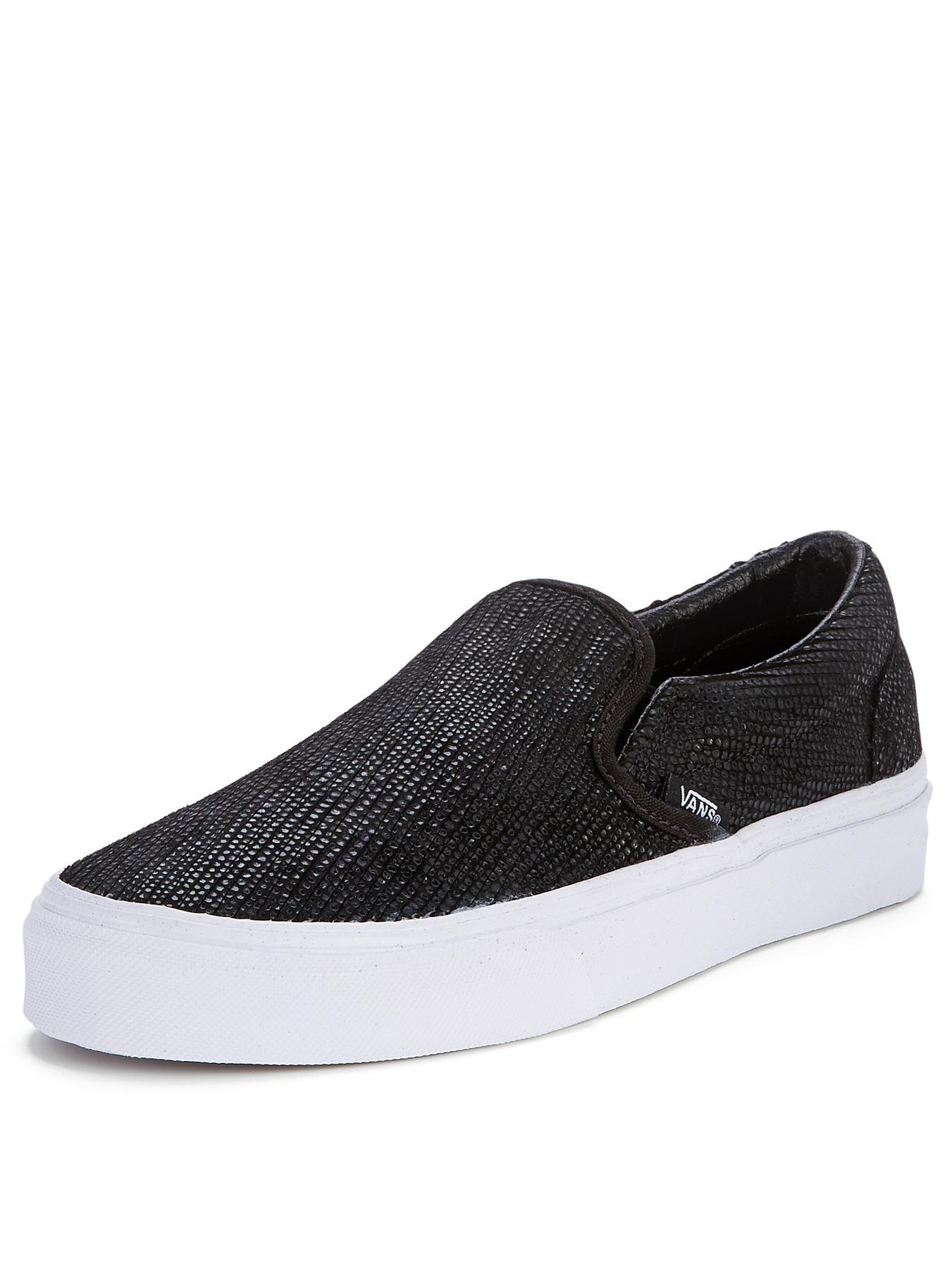 Vans Classic Slip-On Snake Plimsolls - Black, Black