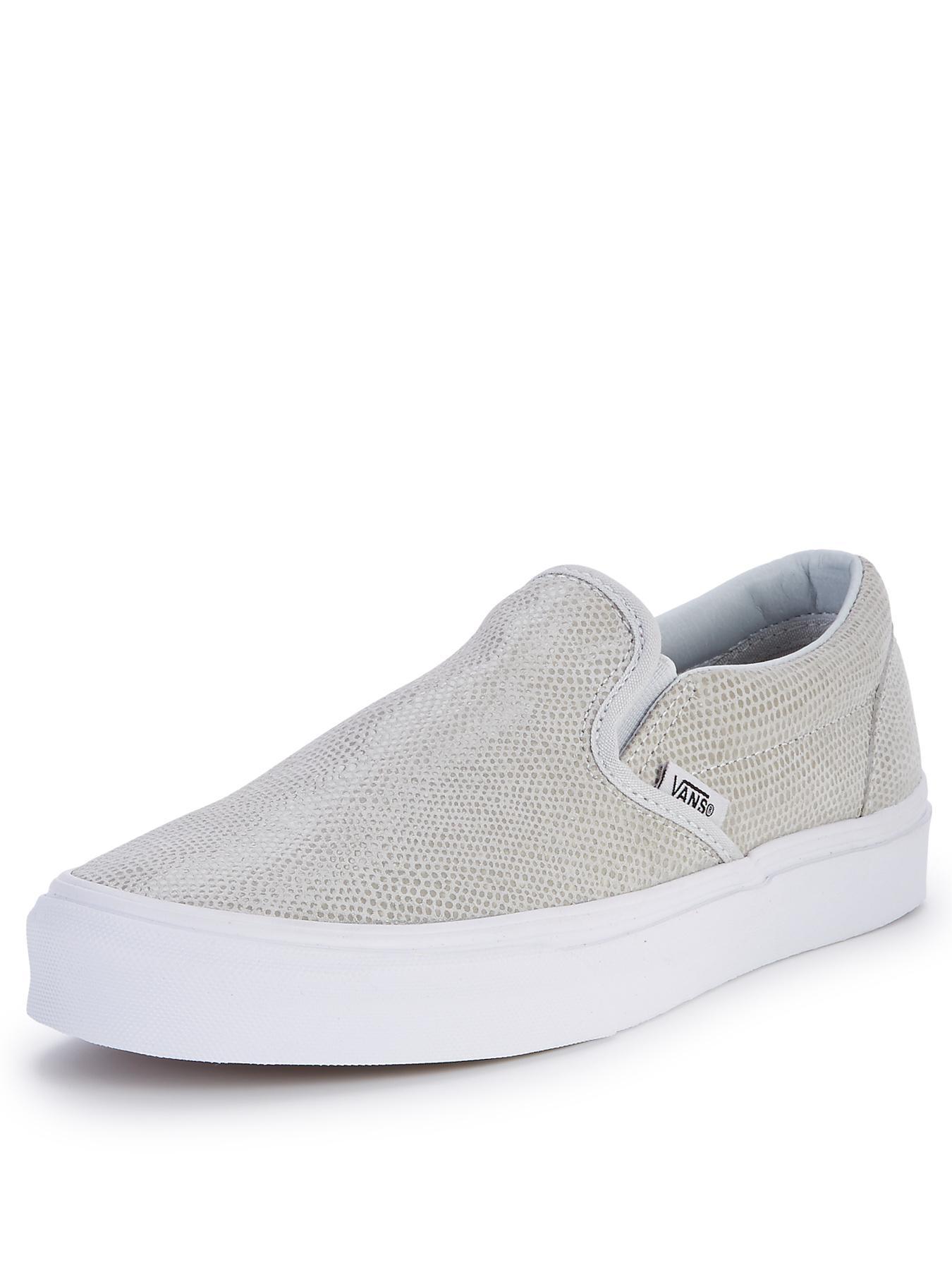 Vans Classic Slip-On Snake Plimsolls - Grey, Grey