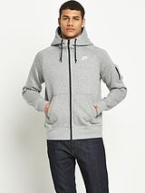 Mens AW77 Fleece Full Zip Hoody