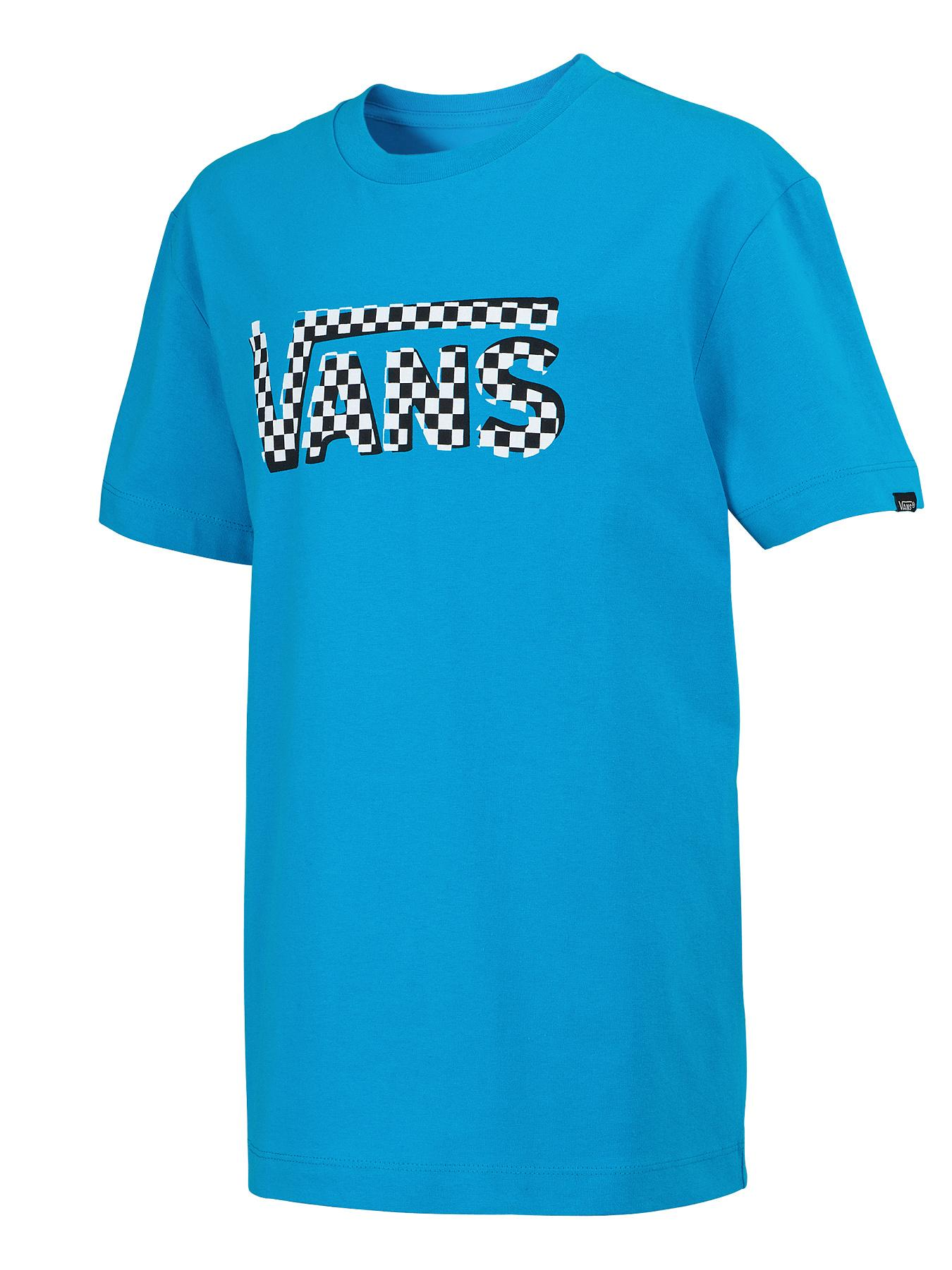 Vans Youth Boys Classic Checker T-shirt - Turquoise, Turquoise