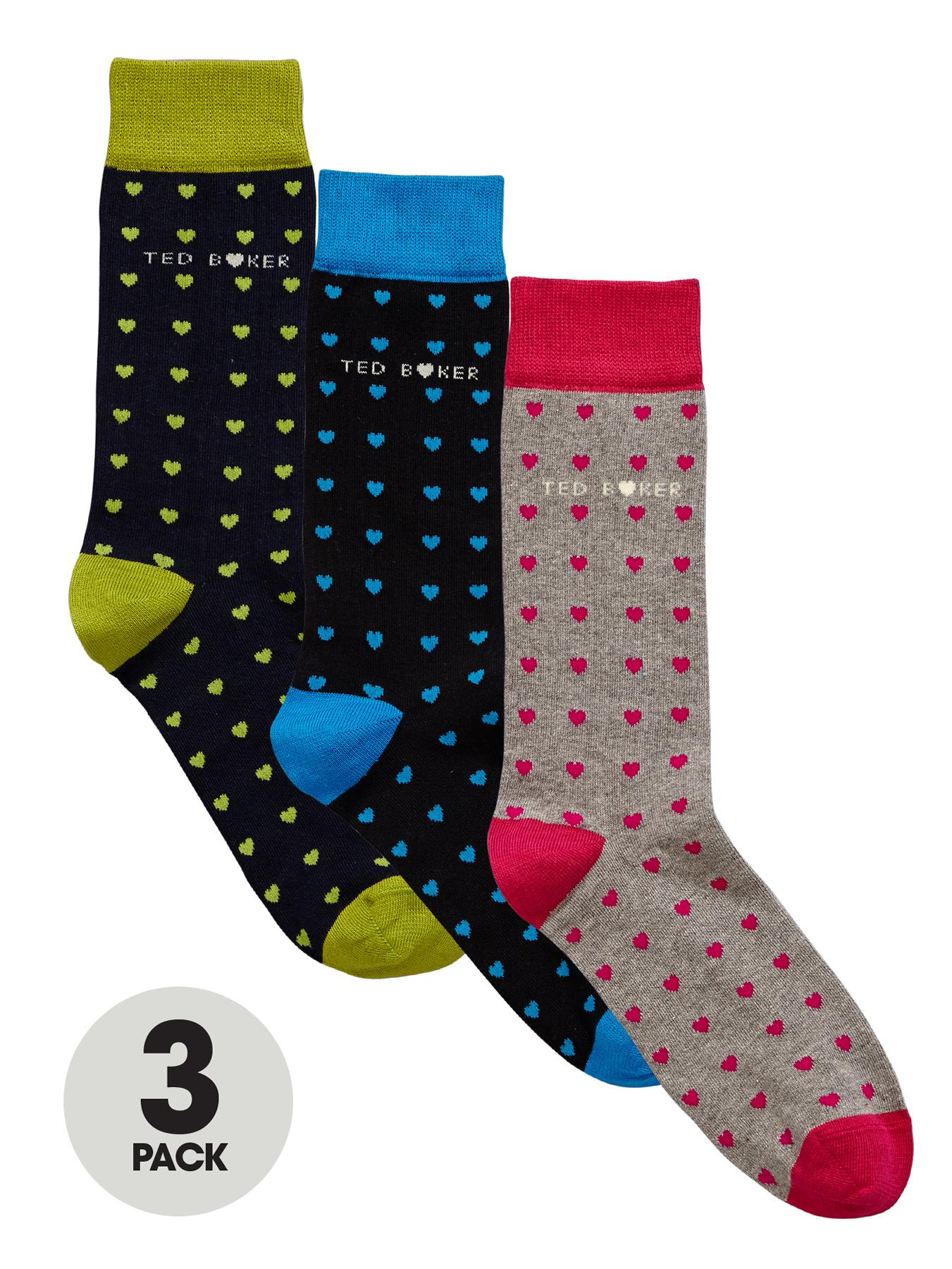 Ted Baker Mens Hearts Socks (3 Pack)