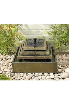 smart-solar-pyramid-garden-fountain-in-natural-slate
