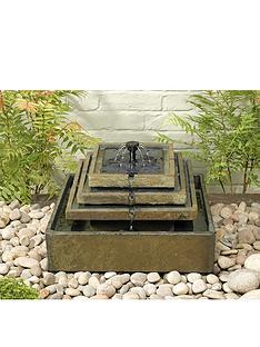 smart-solar-pyramid-garden-fountain-in-natural-slate