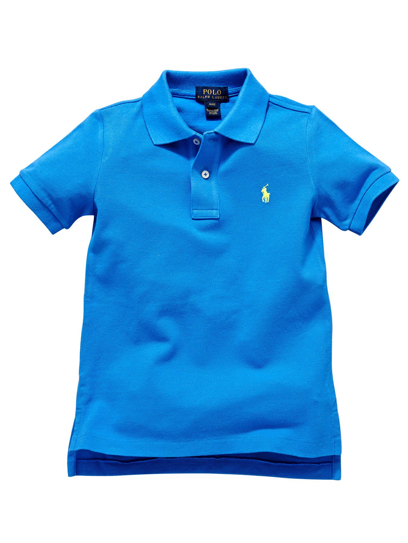 Ralph Lauren Short Sleeved Classic Polo Shirt - Blue, Blue