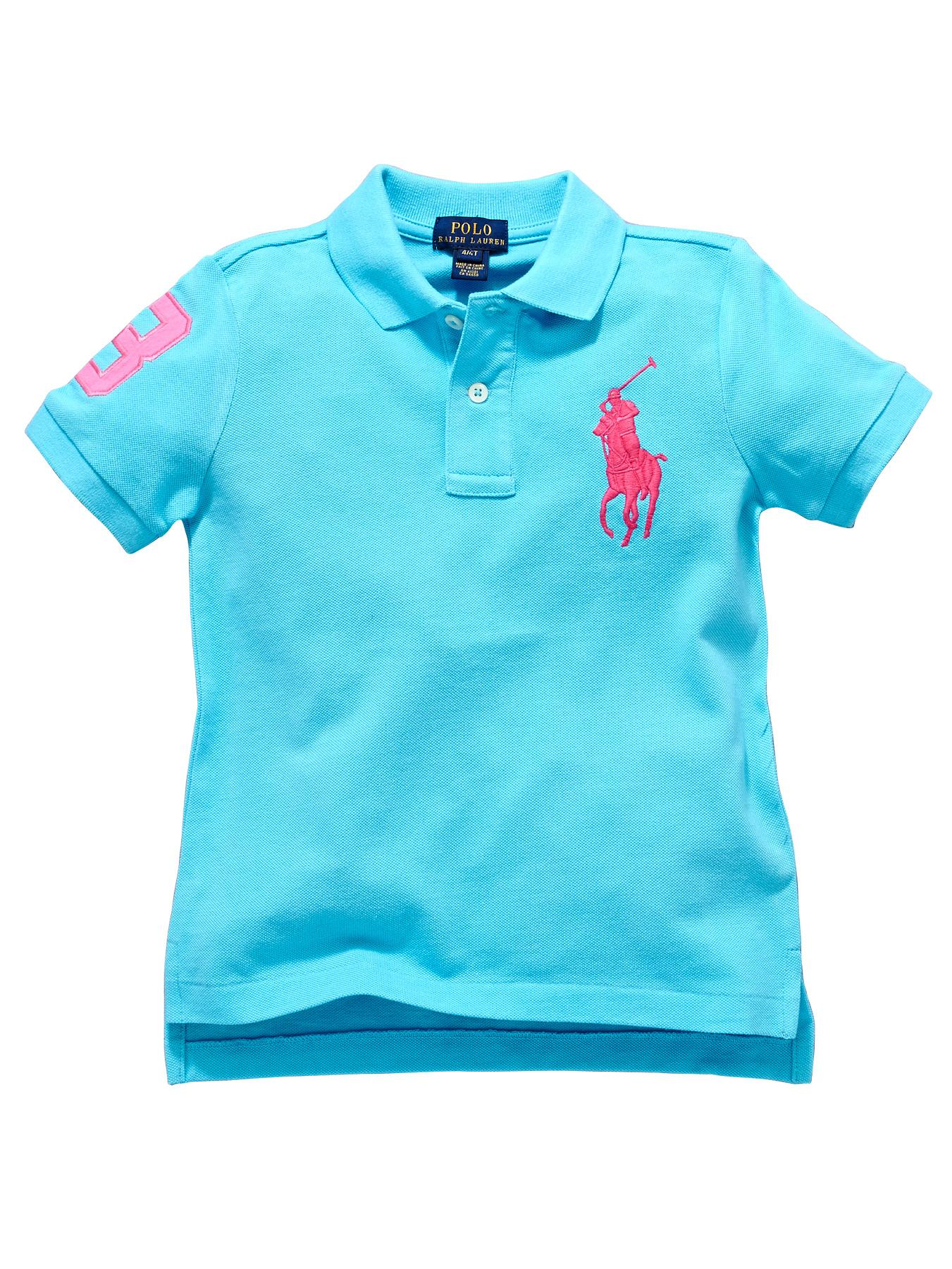 Ralph Lauren Short Sleeved Big Pony Polo Shirt - Blue, Blue