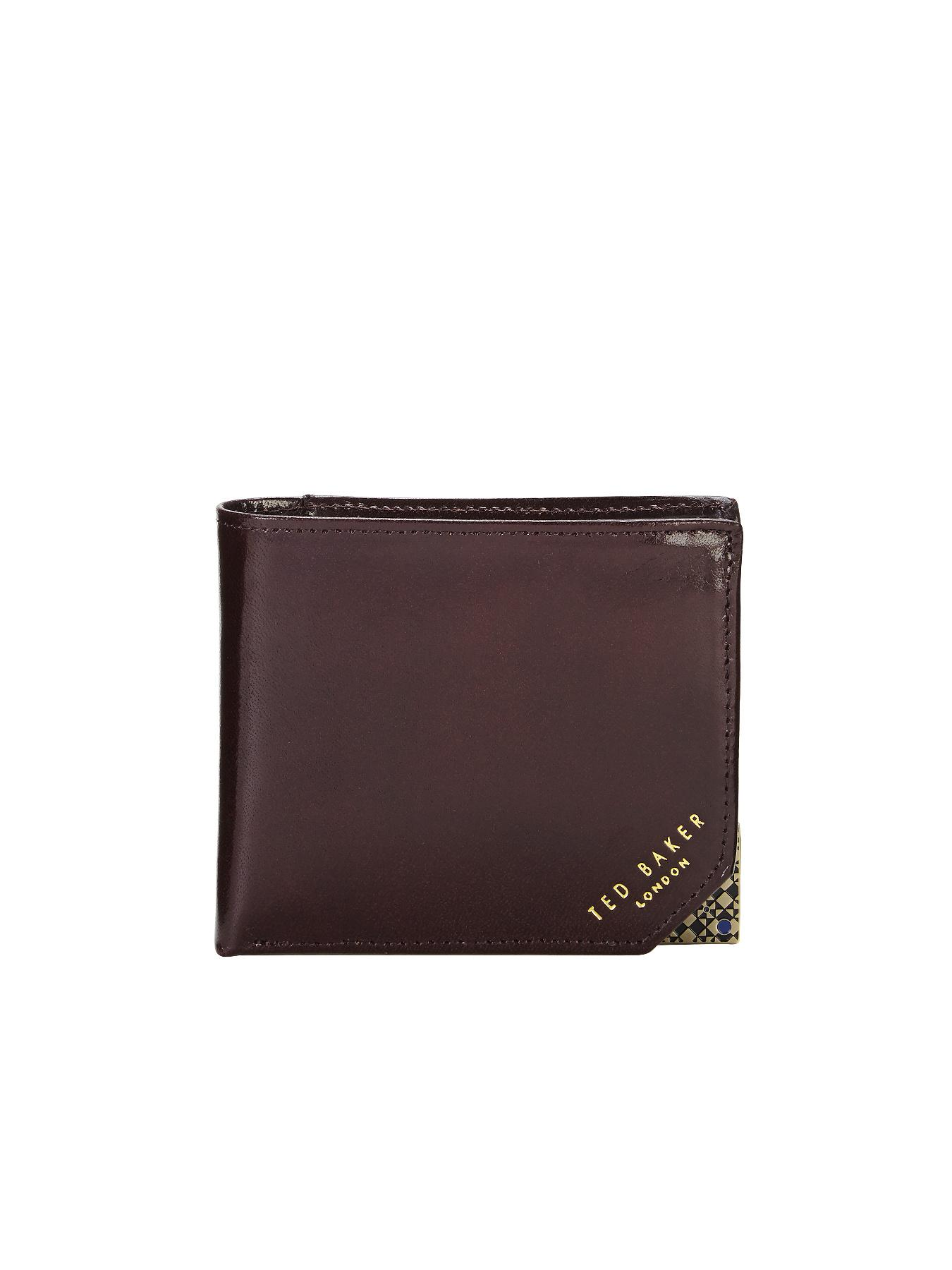 Ted Baker Leather Wallet - Chocolate - Chocolate, Chocolate