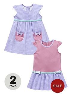ladybird-baby-girls-spotty-dresses-2-pack