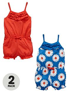 ladybird-girls-daisy-jersey-playsuits-2-pack