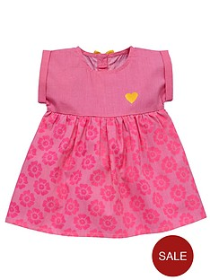 ladybird-baby-girls-neon-floral-print-dress