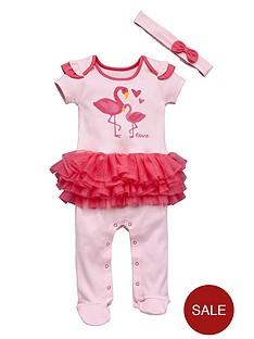 ladybird-baby-girls-flamingo-tutu-sleepsuit-and-headband-set-2-piece