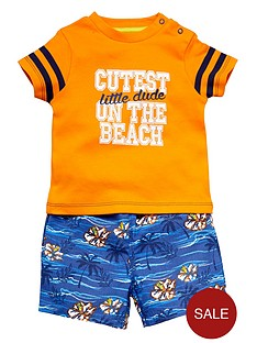 ladybird-baby-boys-cutest-on-the-beach-t-shirt-and-shorts-set-2-piece