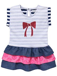 ladybird-baby-girls-reverse-stripe-and-glitter-bow-dress