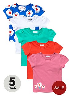 ladybird-girls-bright-heritage-flower-t-shirts-5-pack