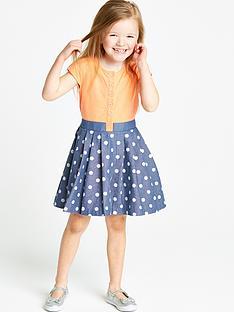 ladybird-girls-spotty-denim-jersey-dress