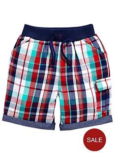 ladybird-boys-woven-red-check-shorts