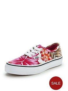 vans-authentic-print-junior-plimsolls