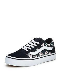 vans-old-skool-floral-junior-plimsolls