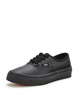 vans-authentic-leather-mono-junior-plimsolls