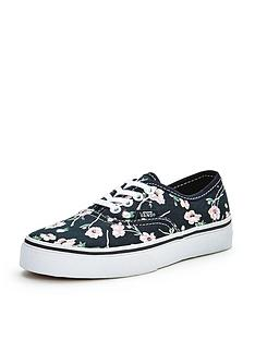 vans-authentic-floral-junior-plimsolls