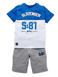 slazenger-little-boys-s81-tee-and-shorts-set