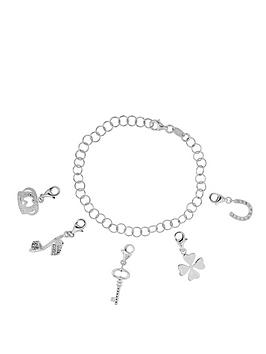 the-love-silver-collection-sterling-silver-charm-bracelet-complete-with-five-charms