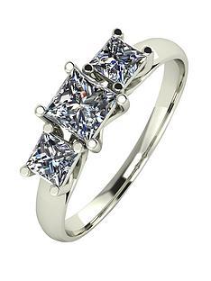moissanite-9-carat-white-gold-1-carat-3-stone-square-cut-ring