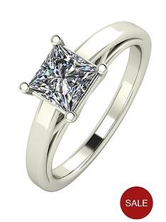 moissanite-premium-collection-9-carat-white-gold-105-carat-princess-cut-solitaire-ring