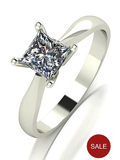 moissanite-9-carat-white-gold-80-point-square-brilliant-cut-solitaire-ring