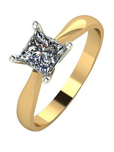 moissanite-9-carat-yellow-gold-80-point-square-brilliant-cut-solitaire-ring