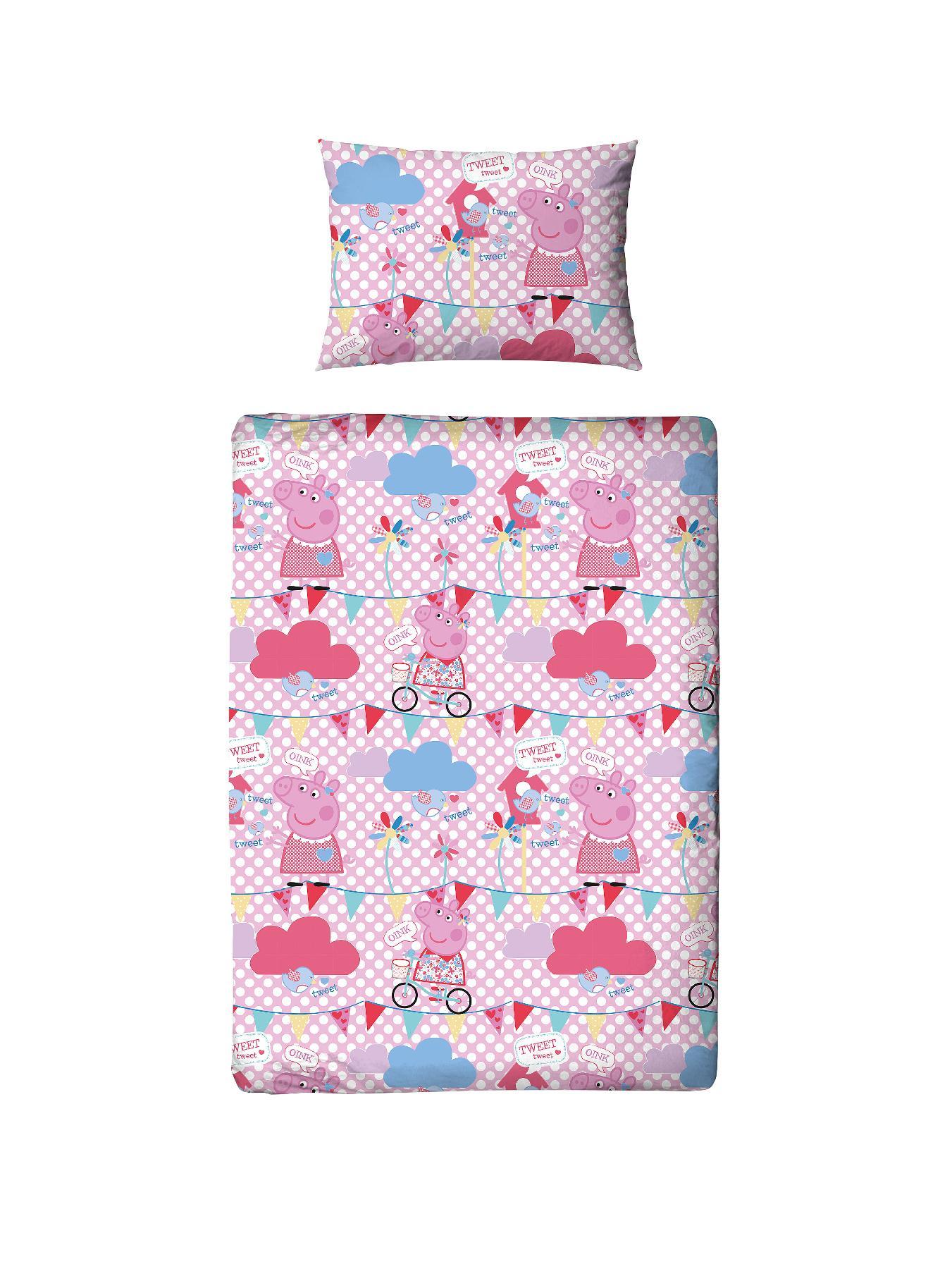 Peppa Pig Tweet Toddler Duvet and Bedding Bundle Set