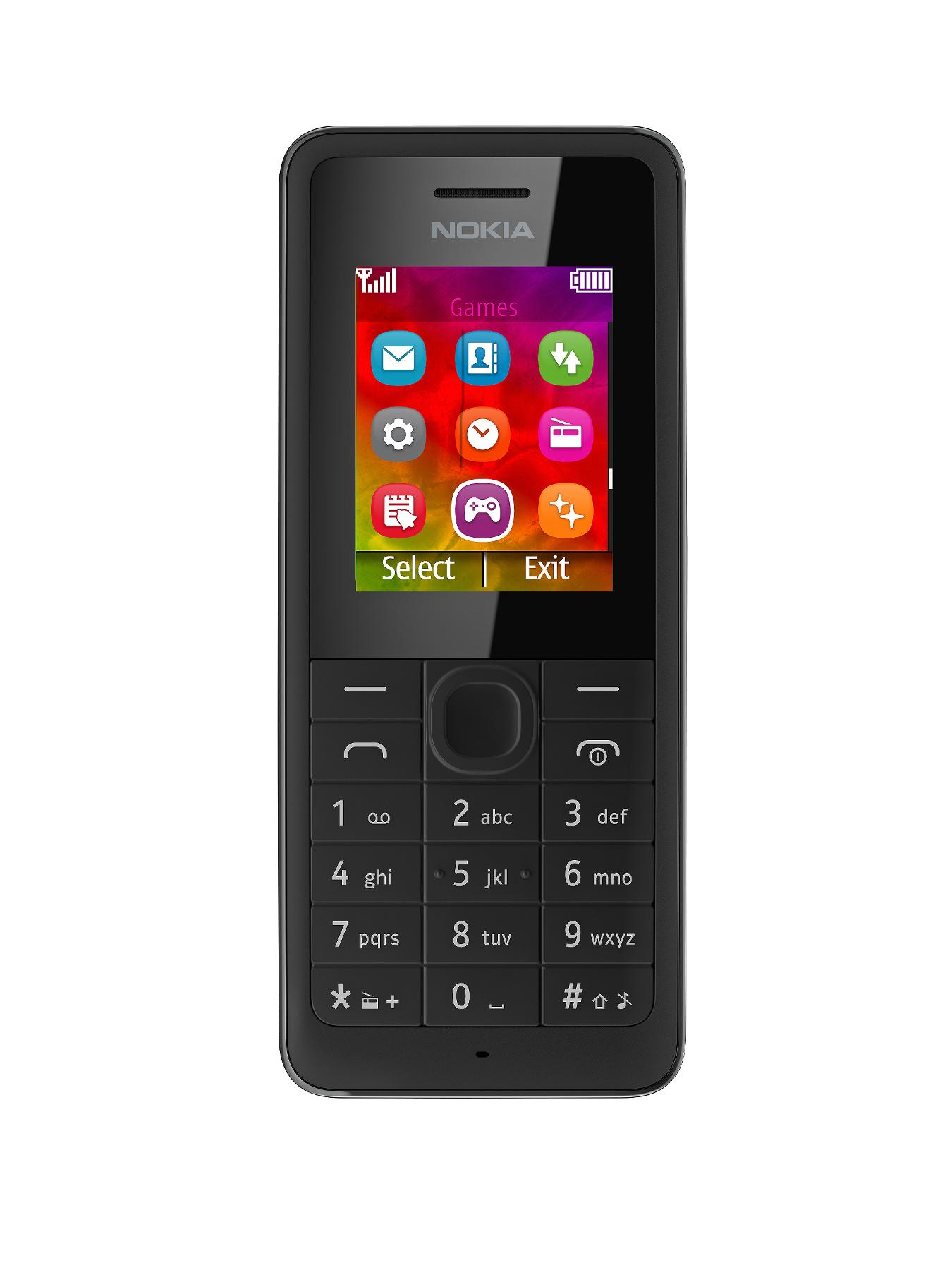 Nokia 106 Mobile Phone - Black - Black, Black