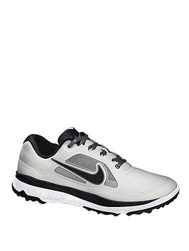 Nike F1 Impact Golf Shoes - Light Grey/Black