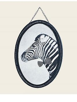 Graham & Brown Ziggy Zebra Oval Canvas with Hanging Chain
