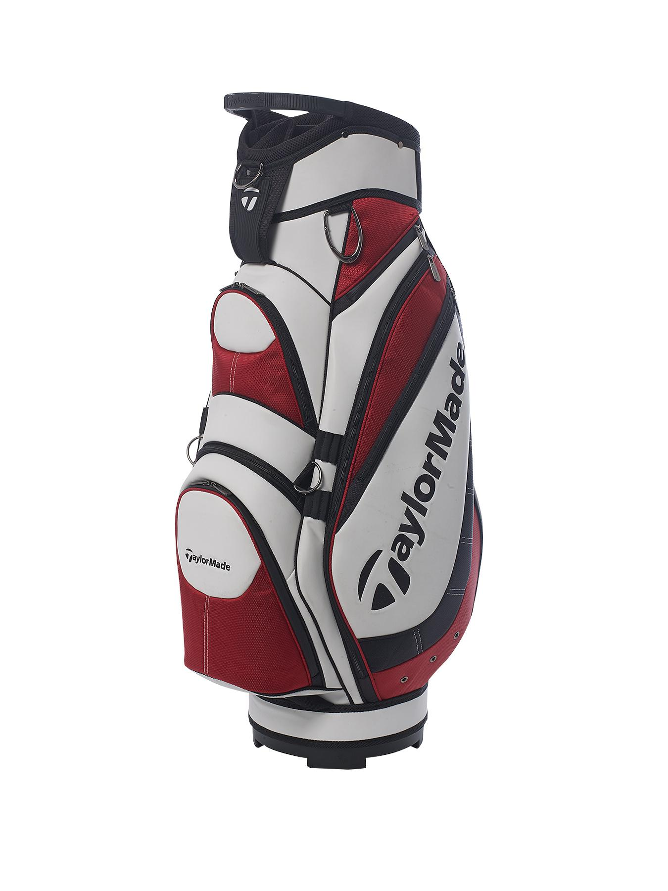 TAYLORMADE Monaco Cart Bag - White/Red/Black