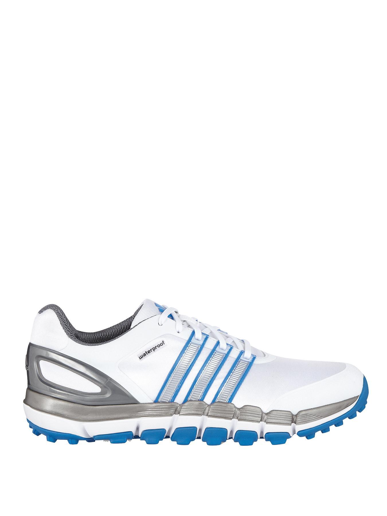 adidas Pure 360 Gripmore Sport Trainers - White/Silver/Bahia Blue