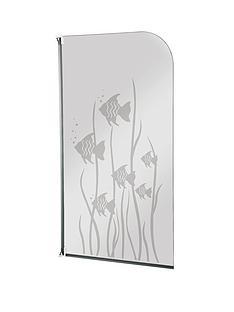 aqualux-half-framed-radius-white-fish-bath-screen