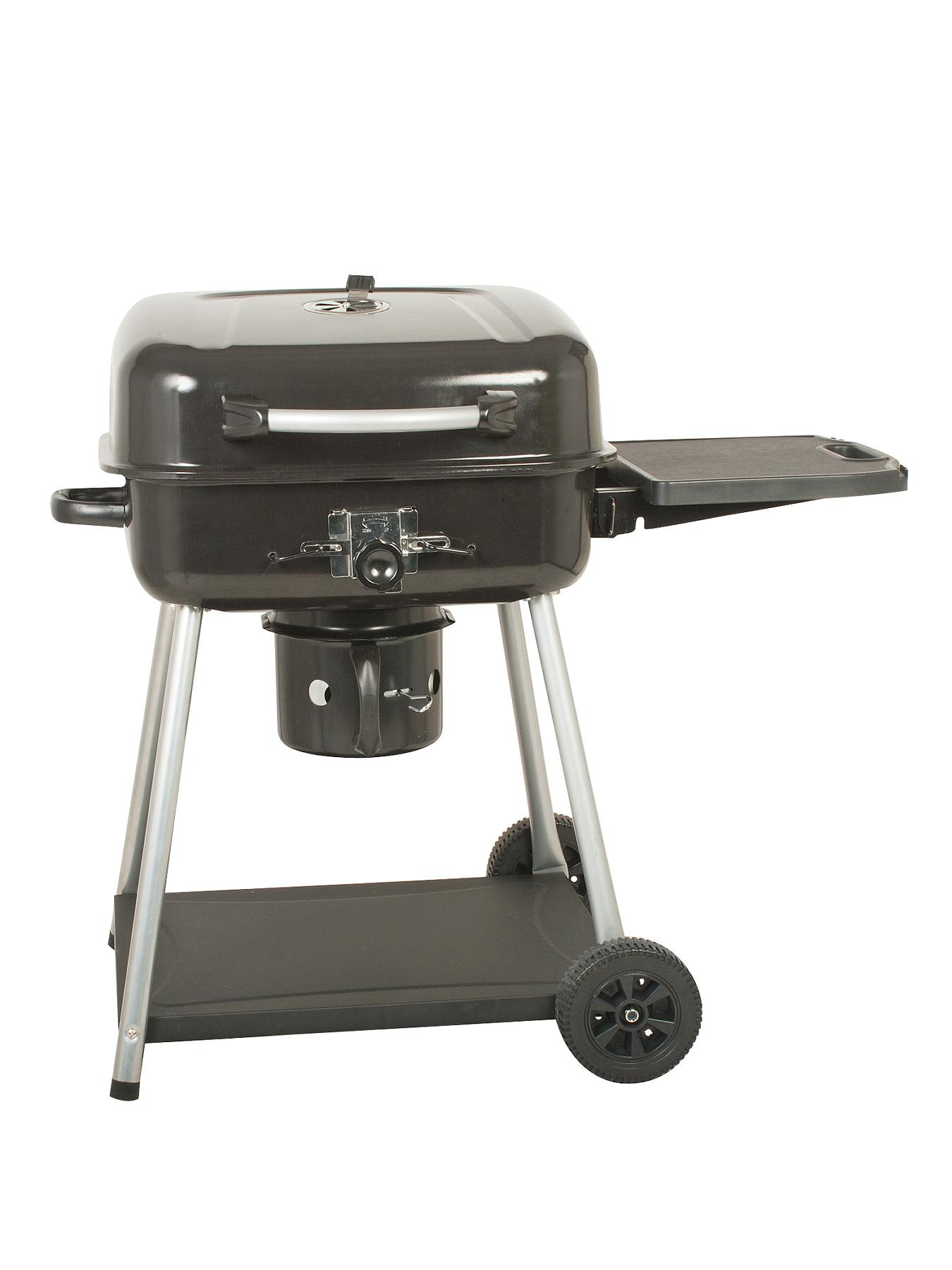 Deluxe Charcoal BBQ with Side Table