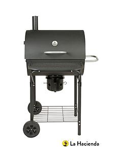 la-hacienda-black-barrel-bbq-and-smoker-with-ash-catcher