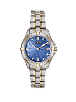 citizen-eco-drive-silhouette-diamond-two-tone-stainless-steel-blue-mother-of-pearl-dial-bracelet-ladies-watch