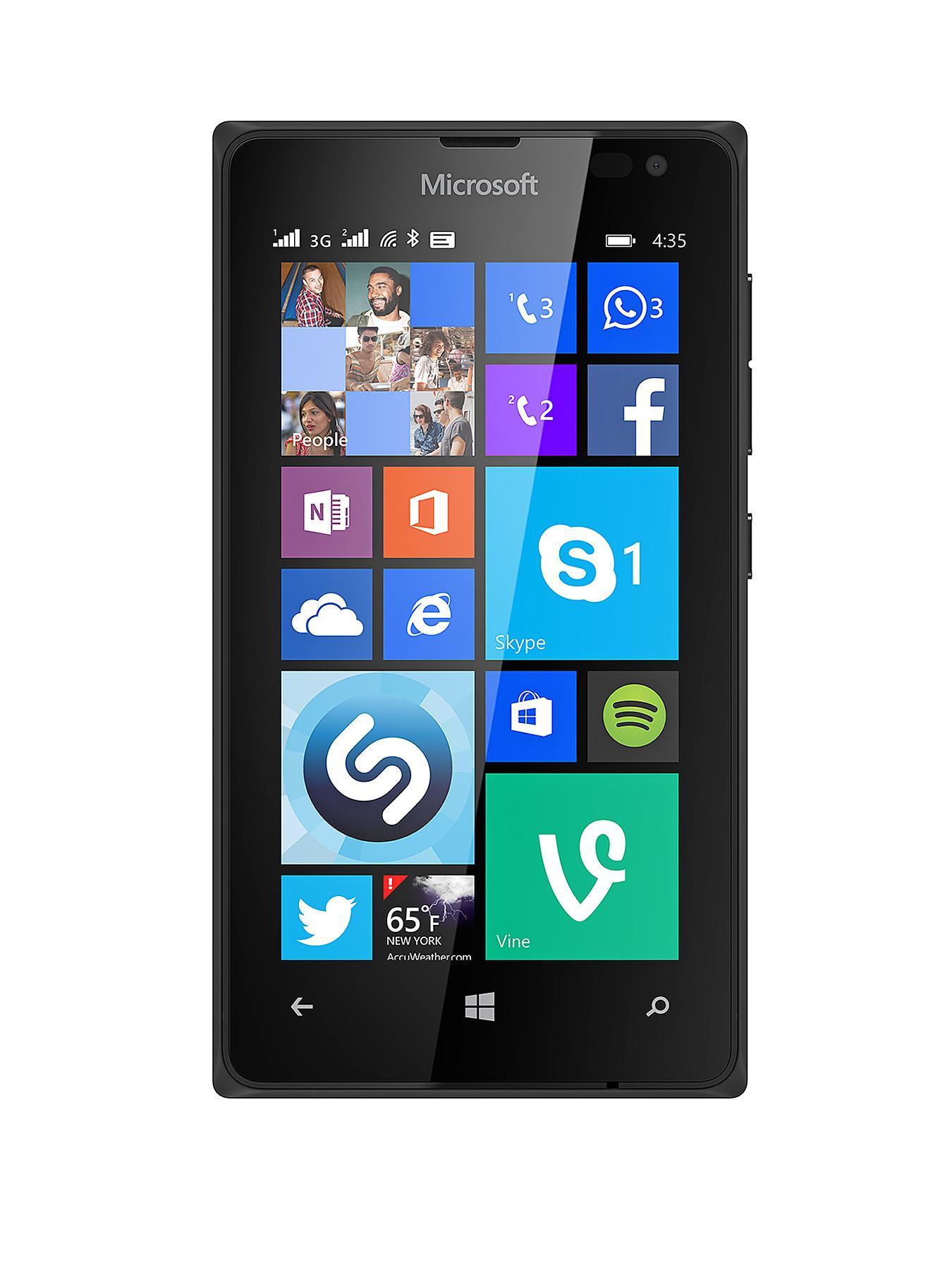 Nokia Lumia 435 Smartphone - Sim FREE Handset - Black