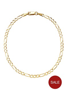 love-gold-9-carat-yellow-gold-solid-diamond-cut-725-inch-figaro-bracelet