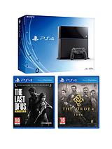500Gb Black Console with The Order 1886 and The Last Of Us