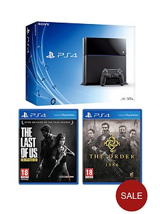 playstation-4-500gb-black-console-with-the-order-1886-and-the-last-of-us
