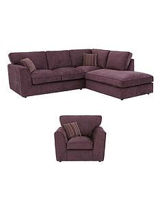 brodie-right-hand-fabric-corner-chaise-and-armchair-set-buy-and-save