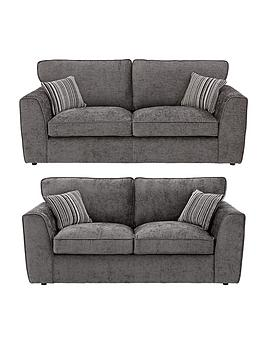 Brodie fabric 3 seater sofa plus sofa bed buy and save for Sofa bed very
