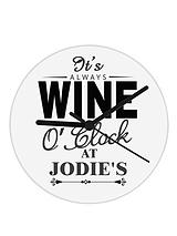Personalised Wine O Clock Glass Clock