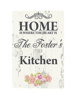personalised-shabby-chic-kitchen-wall-sign