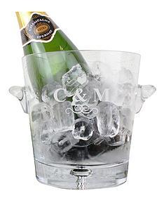 personalised-monogram-glass-ice-bucket